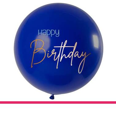 Ballon xl blue Happy Birthday