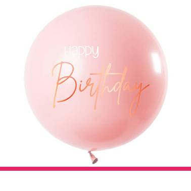 Ballon xl blush Happy Birthday
