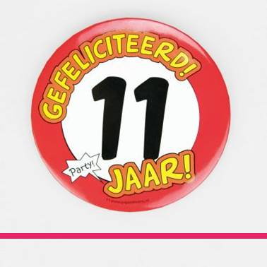 Button XL 11 jaar