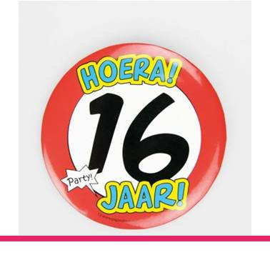 Button XL 16 jaar