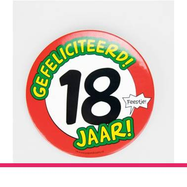 Button XL 18 jaar
