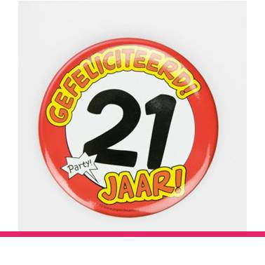 Button XL 21 jaar