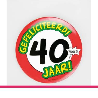 Button XL 40 jaar