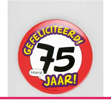 Button XL 75 jaar