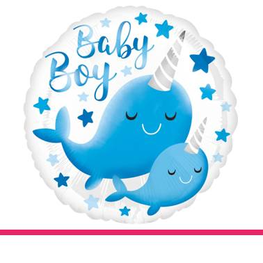 Folieballon Baby Boy walvis
