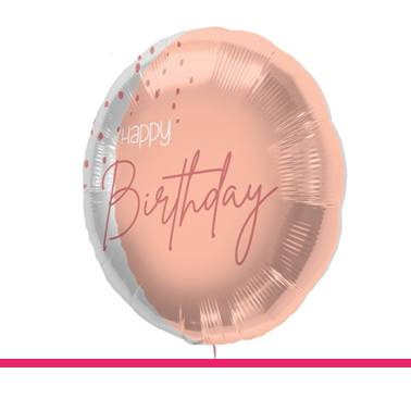 Folieballon Blush Happy Birthday