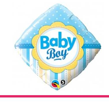 Folieballon baby boy ruit