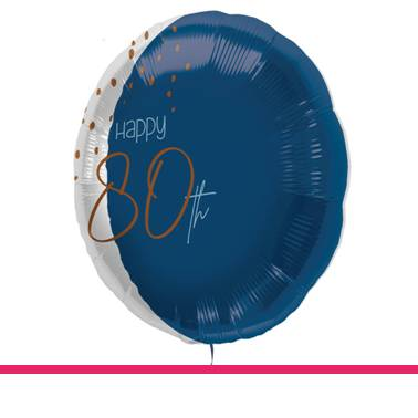 Folieballon Elegant Blue 80