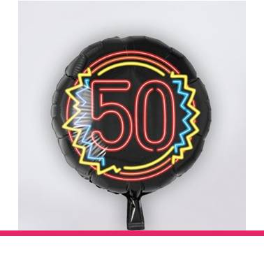 Folieballon neon 50