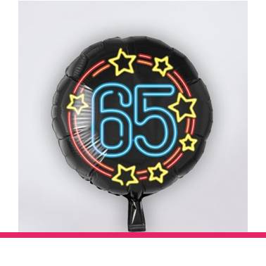 Folieballon neon 65