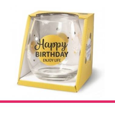 Glas Proost Happy Birthday